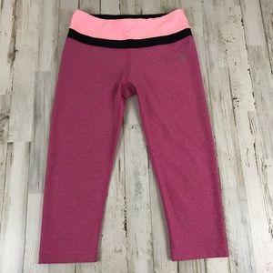 RBX Reebok Womens Athletic Crop Leggings S Pink
